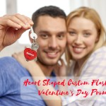 Heart Shaped Custom Flashlights For Valentine's Day Promotions