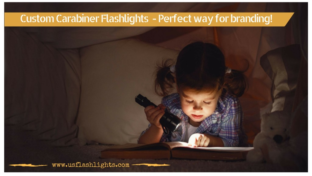 branding using custom carabiner flashlights