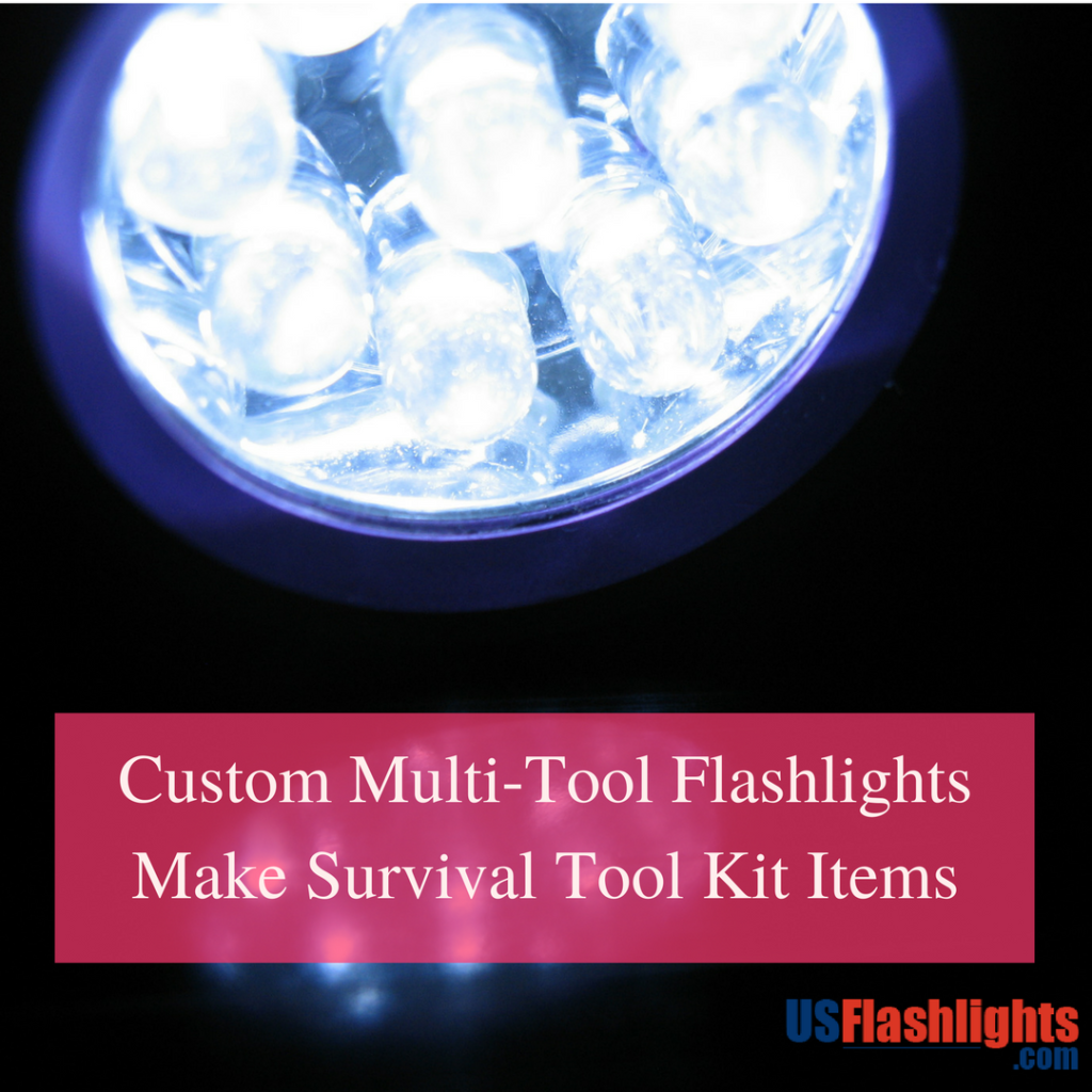 Custom Multi Tool Flashlights Make Survival Tool Kit Items